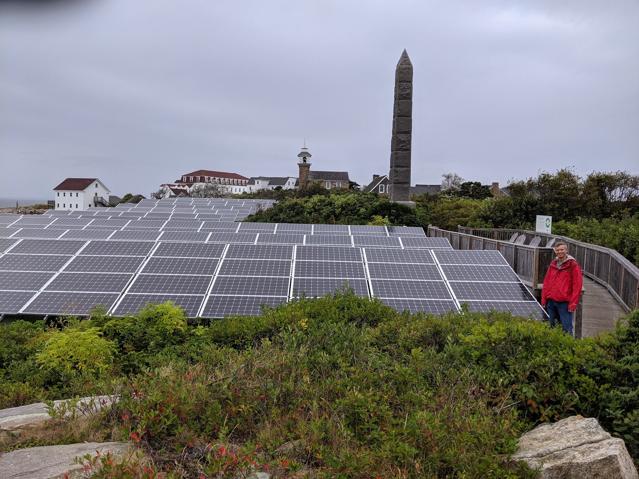Aaron and many solar panels