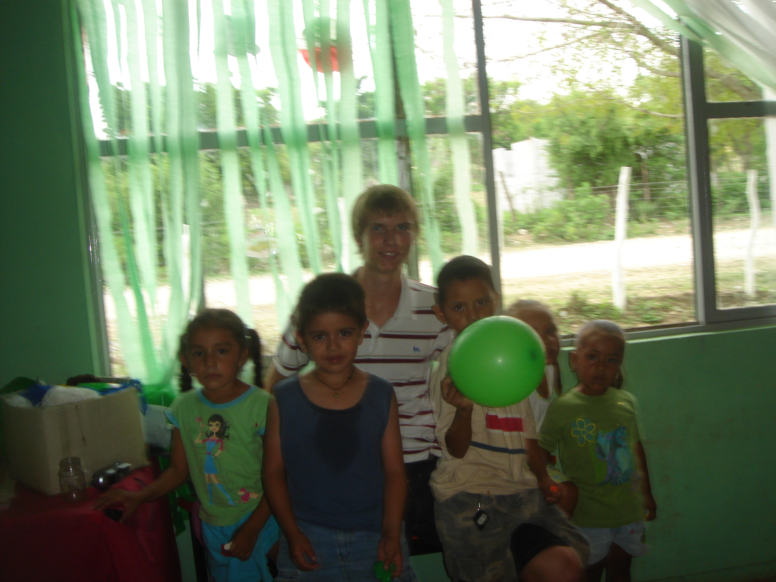 Aaron and some Mexican children