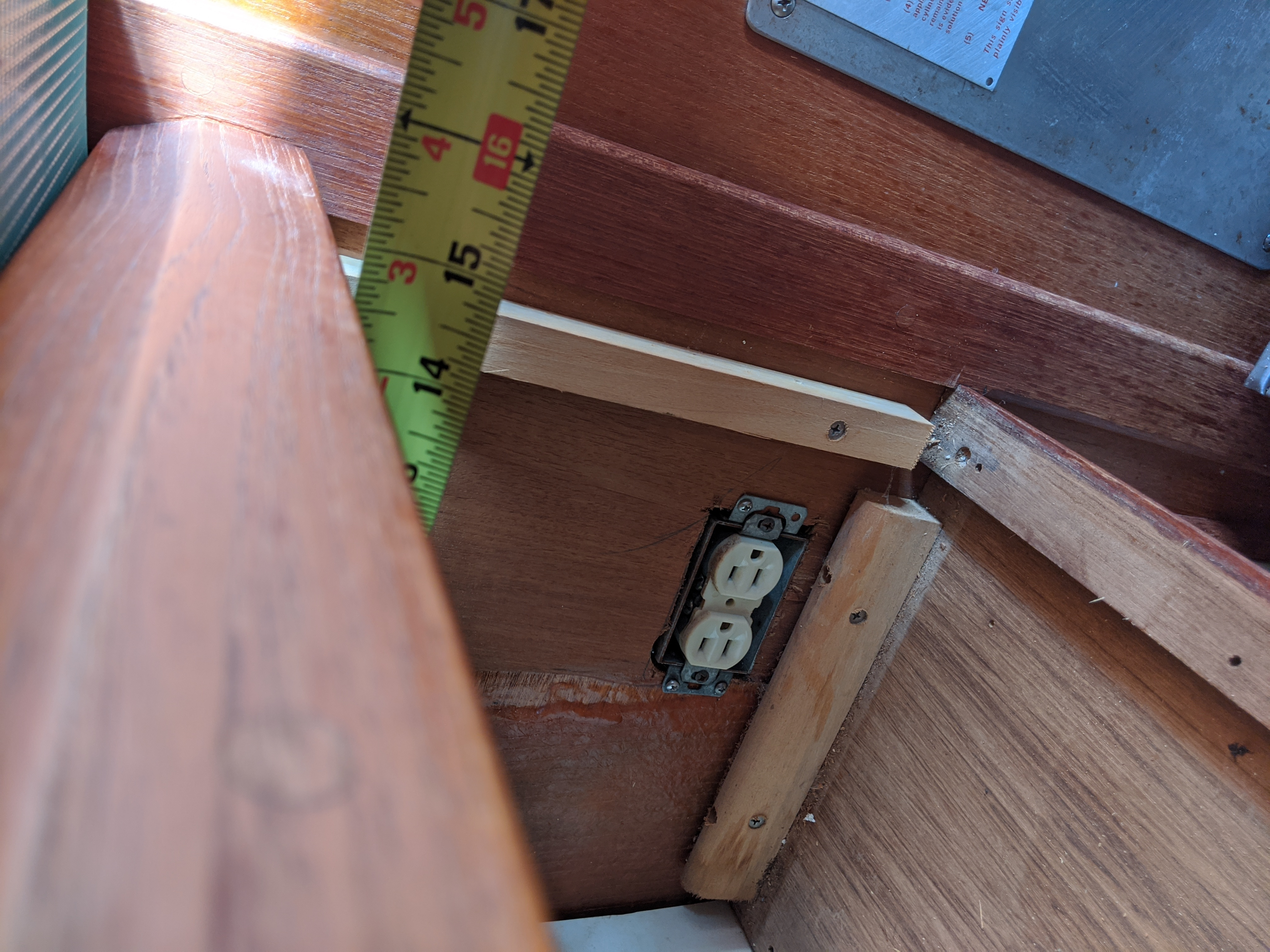 Cabinet depth on top