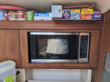 New microwave installed