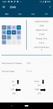 Screenshot of 2048 stats page