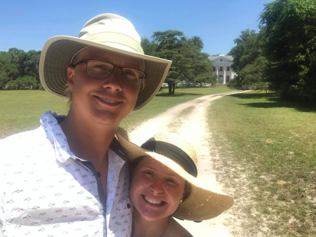 Anna and Aaron on Cumberland Island